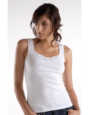 Lot de 3 chemises sans manches Coton Blanc Jet