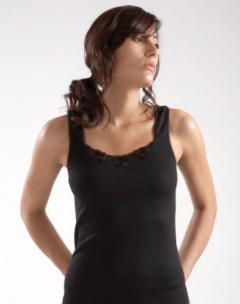Lot de 3 chemises sans manches Coton Noir Jet