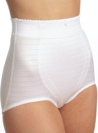 Gaine culotte haute rayé Blanc Triolet 6265
