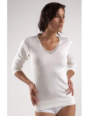 Lot de 3 chemises manches longues en Coton/laine Blanc Jet