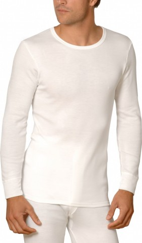 Tee-shirt manches longues blanc Rhovylon