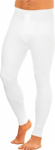 Caleçon long ouvert blanc 100% coton
