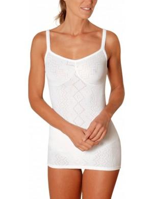 Chemise fines bretelles blanche 100% coton SG