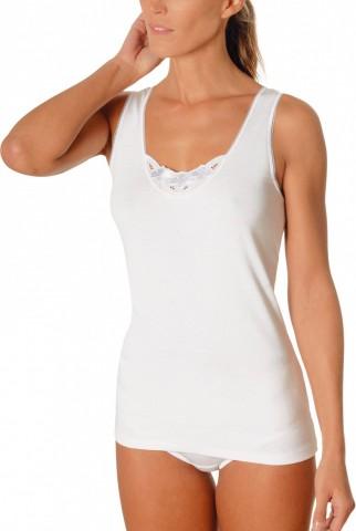 Chemise sans manches blanche 100% coton Achel