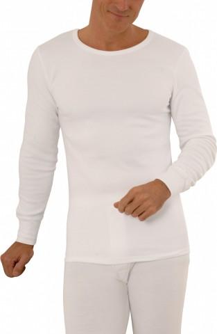 Tee-shirt manches longues blanc 100% coton