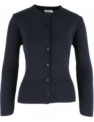 Gilet femme col rond Armor Lux Rich Navy