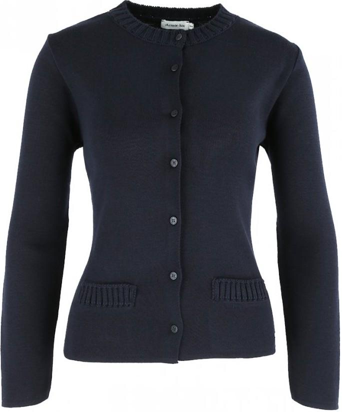 Veste à col rond en laine et acrylique | Femme | Armor lux