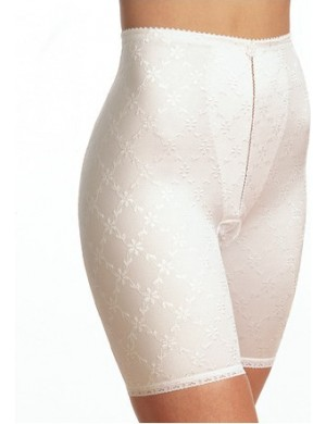 Gaine panty Brodée Blanche Triolet
