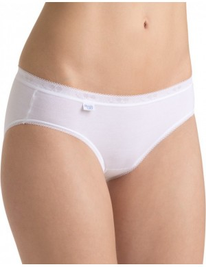 Lot de 4 Slips mini Basic Blanc Sloggi