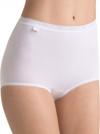 Lot de 4 slips Blanc Maxi Sloggi Basic