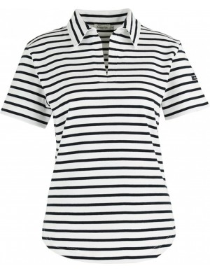 Short Sleeve Stripe Women's Polo Shirt
