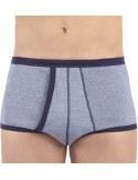 Set of 3 High Waist Briefs Open Heather Jet