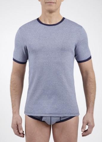 Lot de 3 tee-shirts col rond chinés manches courtes