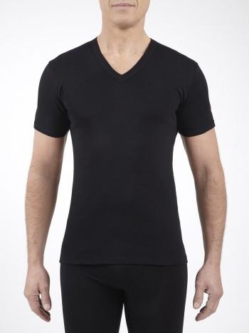 Lot de 3 tee-shirts col V manches courtes Noir Jet