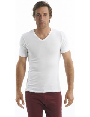 Set of 2 Cotton V-Neck T-shirts