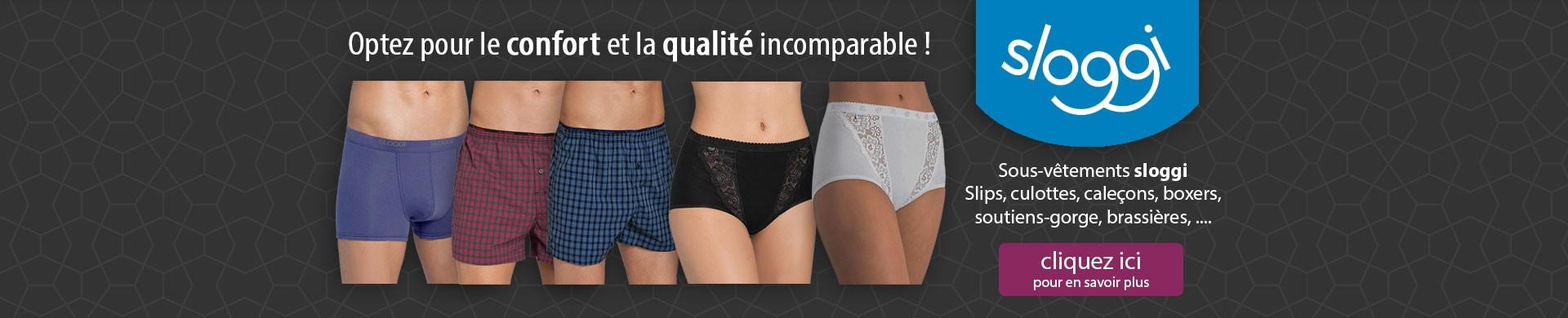 Optez pour le confort et la qualité des sous-vêtements sloggi !